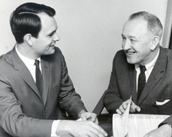 Bankert (left) with then Hall of Fame Director Dick Gallagher.