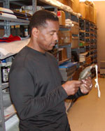 Tony Dorsett during his visit to the HOF on April 17, 2003.