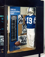 Unitas exhibit at Pro Football Hall of Fame in Canton, Ohio