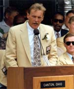 Jack Lambert made his enshrinement speech in 1990.