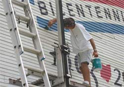 Artist Scott Hagan has painted the Bicentennial  logo on a barn in each  of Ohio's 88 counties.