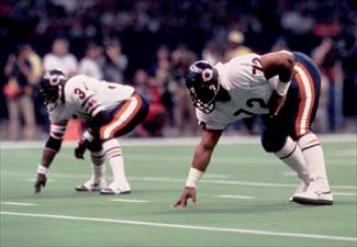 Payton and Perry in Super Bowl XX